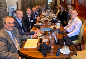 (2019 Kaiser Key Broker Engagement Luncheon, Pasadena, California. Third from the right, peeking over his colleagues, is Bruce Jugan of Benefits Café)