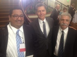 Michael Lujan, Director of Sales and Marketing Covered California, Bruce Jugan, President BenefitsCafe.com, David Zanze President Pinnacle Claims Management
